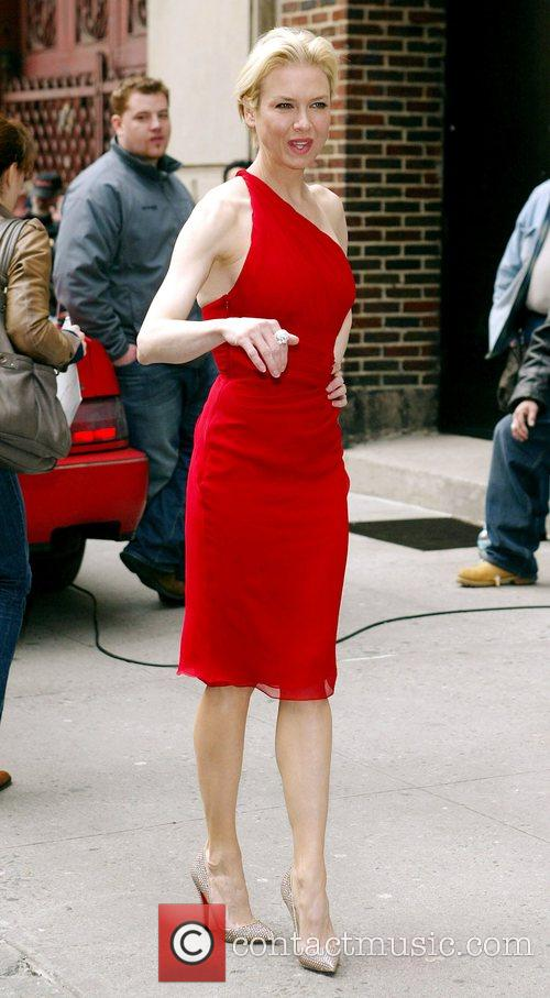Renee Zellweger and David Letterman 1