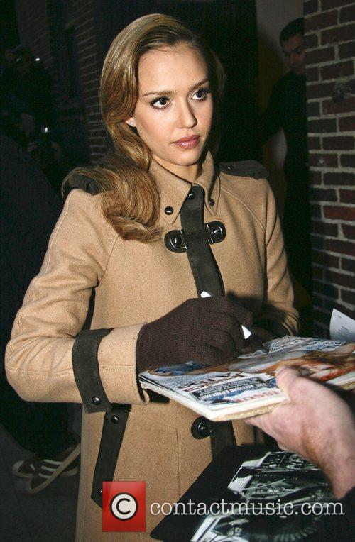 Jessica Alba and David Letterman 31