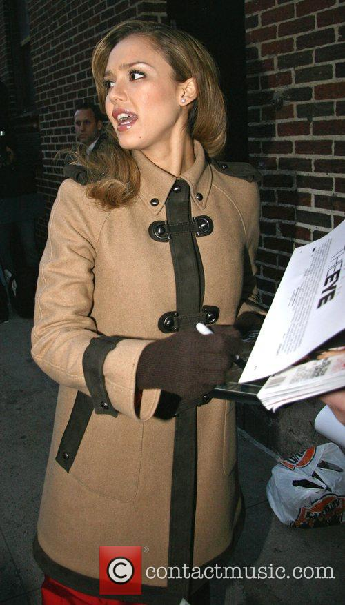 Jessica Alba and David Letterman 21