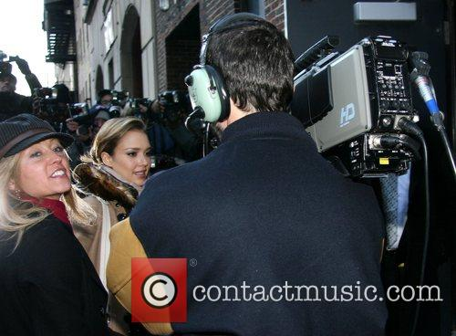Jessica Alba and David Letterman 22