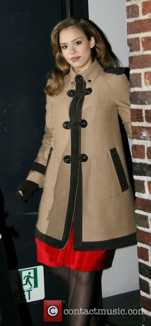 Jessica Alba and David Letterman 17
