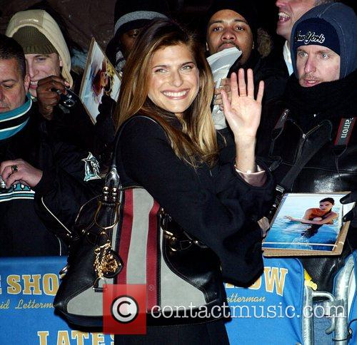 Lake Bell and David Letterman 1