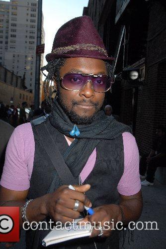 Will.i.am of Black Eyed Peas outside Ed Sullivan...