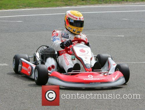 Lewis Hamilton at the Daytona Karting track....