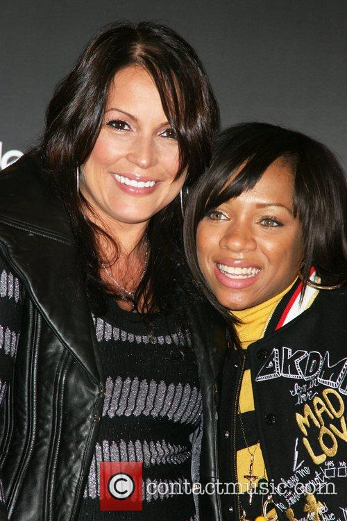 Angie Martinez and Lil Mama at the Akademiks...