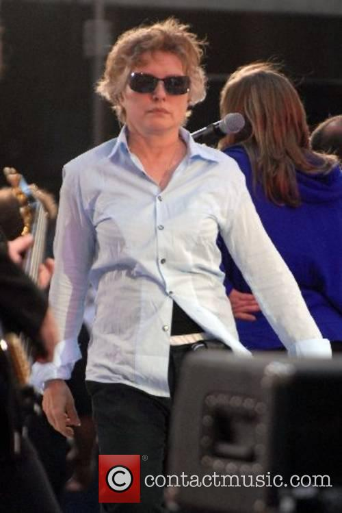 Deborah Harry at a sound check before her...