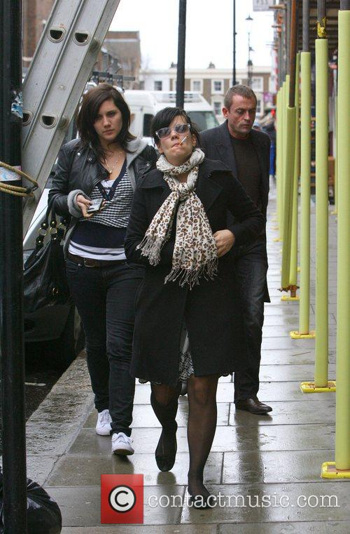Lily Allen Smoking a cigarette, Lily stopped at...