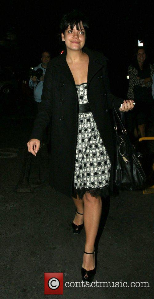 Lilly Allen leaving the Ivy restaurant  London,...