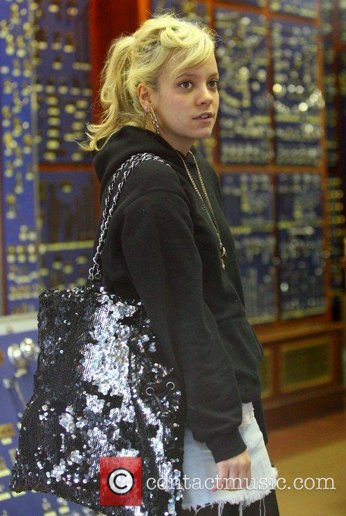 Lily Allen busy shopping for items for her...