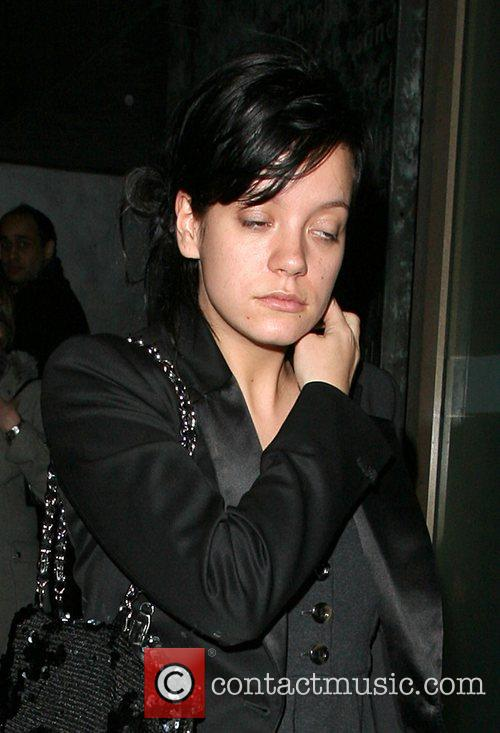 Lily Allen leaving Nobu Park Lane restaurant at...