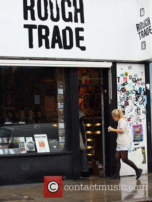 Lily Allen pops into Rough Trade record shop...
