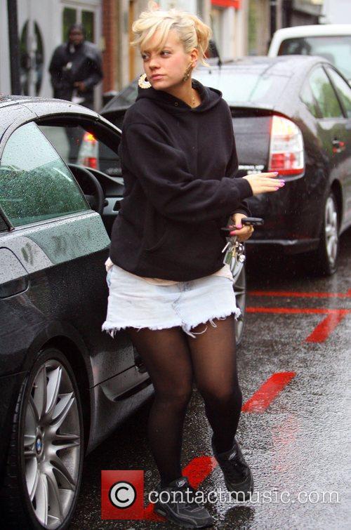 Lily Allen clothes shopping on Portobello Road London,...