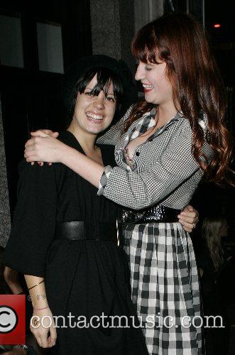 Lily Allen and her friend Florence out partying...