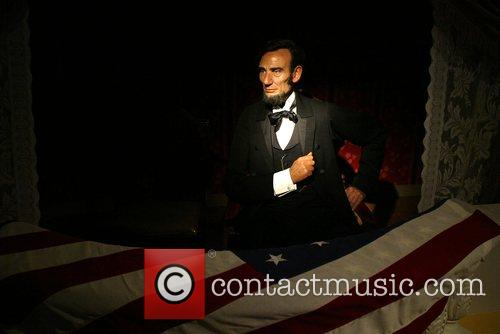 Madame Tussauds Wax Museum figure of President Lincoln...