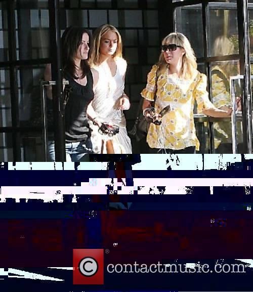 Lindsay Lohan leaving her hotel heading for the...