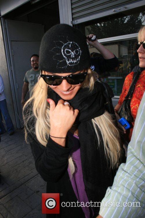 Lindsay Lohan  making a stop at the...