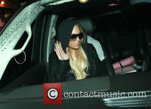 Lindsay Lohan arrives at LAX airport at 2.30am....