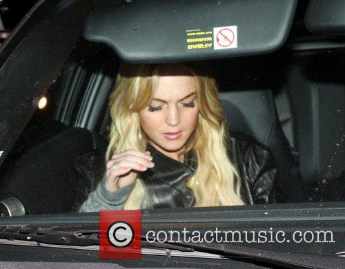 Lindsay Lohan with Samantha Rosstin leaving Domincks in...