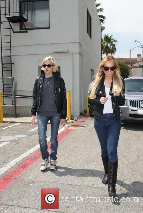 Samantha Ronson and Lindsay Lohan  out and...