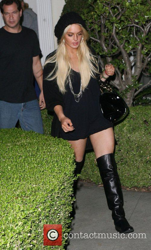 Lindsay Lohan leaves home for a night out...
