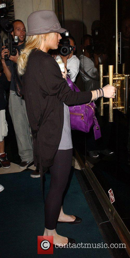 Lindsay Lohan seen arriving at Plaza Towers Hollywood,...