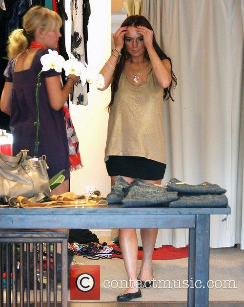 Lindsay Lohan out and about shopping Los Angeles,...