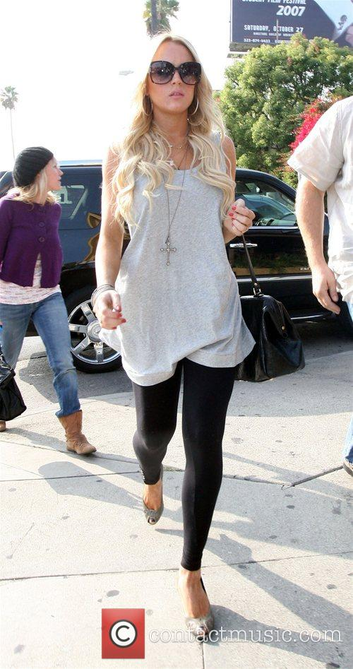 Lindsay Lohan goes for lunch at Bosa Nova Los Angeles,...