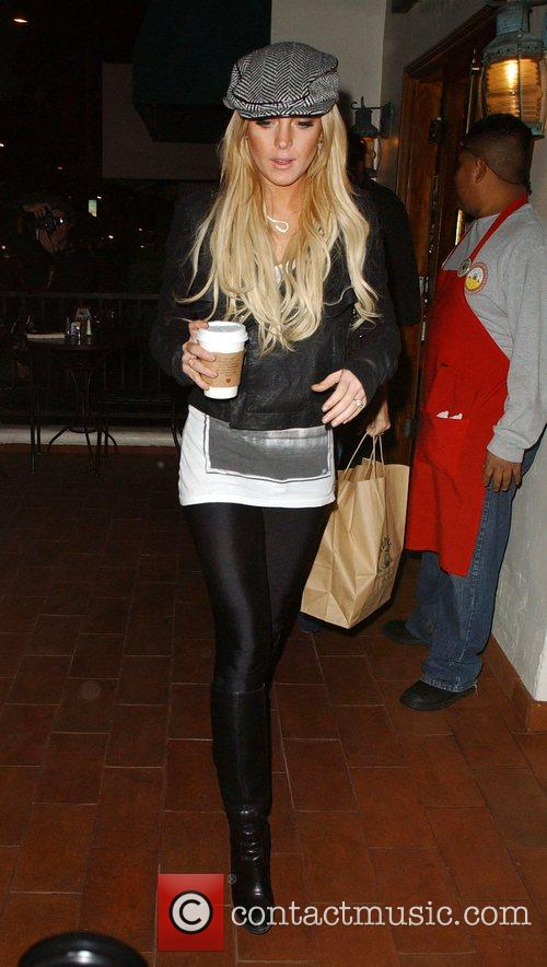 Lindsay Lohan leaving Urth Cafe in West Hollywood...