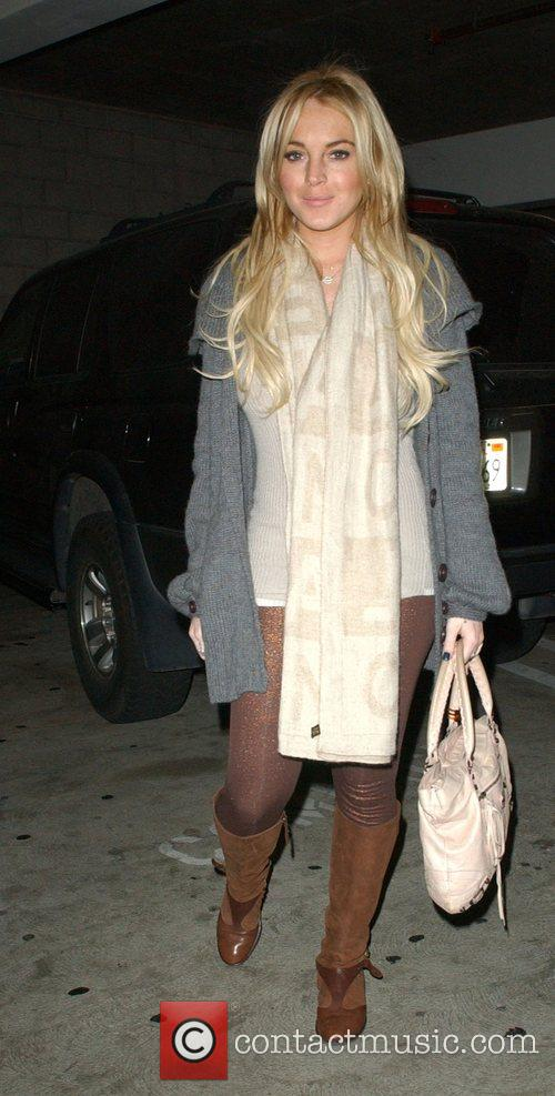 Lindsay Lohan arriving at The Grove to enjoy...