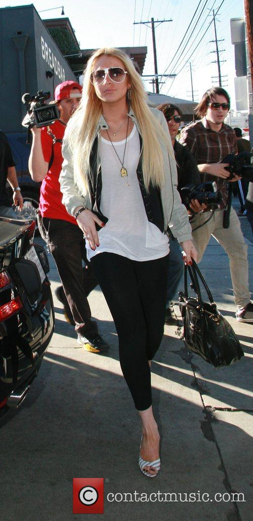 Lindsay Lohan goes to Orso Restaurant in West...