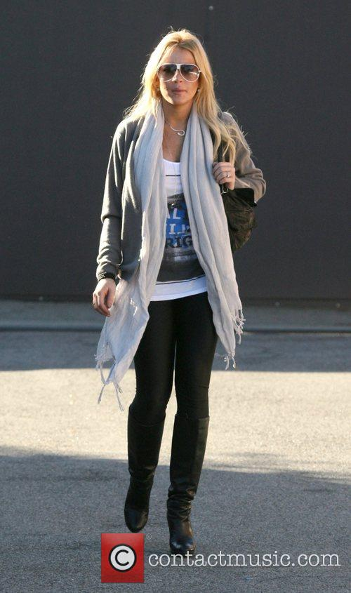 Lindsay Lohan arrives at a recording studio Los...