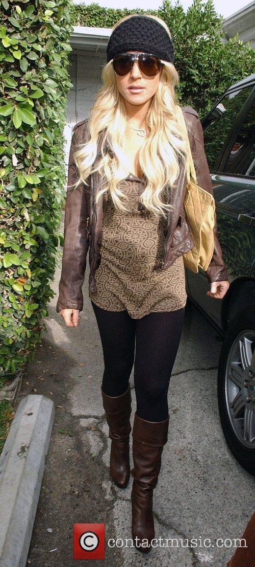 Leaving Byron Williams Hair Salon in Beverly Hills