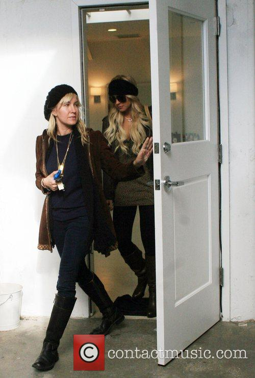 Lindsay Lohan and her assistant leaving Byron Williams...
