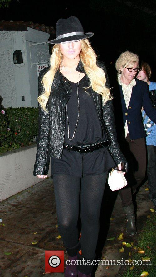 Lindsay Lohan leaving Chris Mcmillan Salon in Beverly...