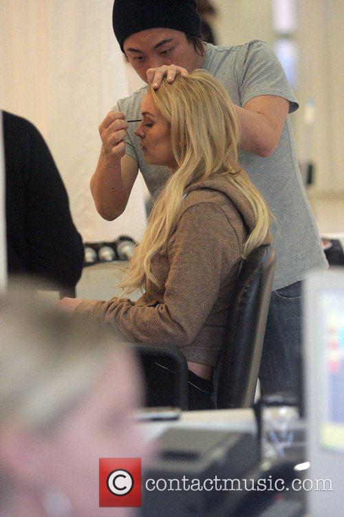 Lindsay Lohan gets a makeover at Byron Williams...