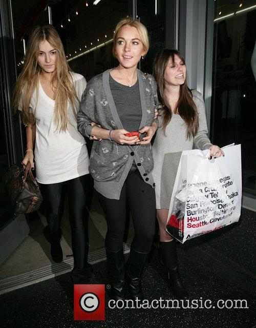 Lindsay Lohan  leaving the American Apparel store...