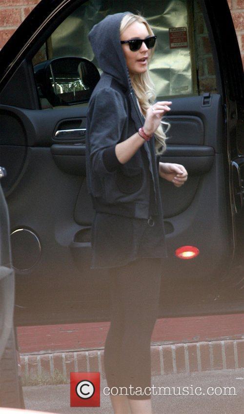 Lindsay Lohan arriving arrives at a dance studio...