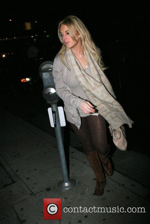 Arriving at a sushi restaurant in West Hollywood