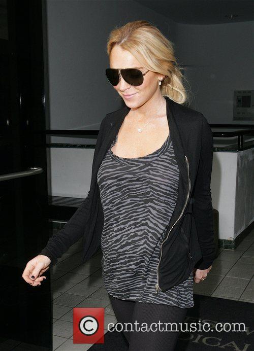 Lindsay Lohan visits West Wilshire Medical Center Los...