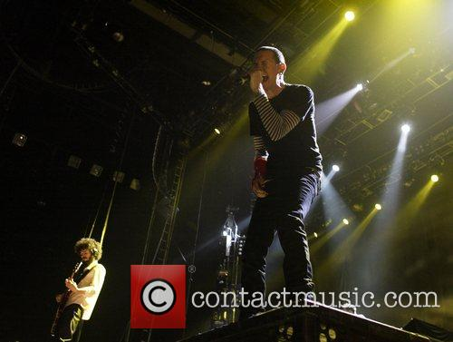 Brad Delson and Chester Bennington of Linkin Park...