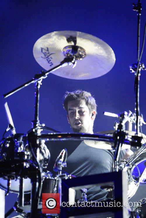 Rob Bourdon of Linkin Park  performing live...