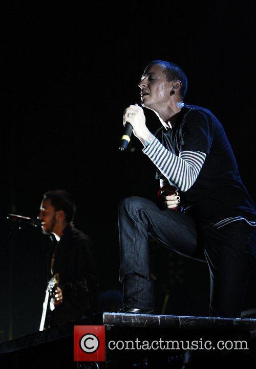 Mike Shinoda and Chester Bennington of Linkin Park...