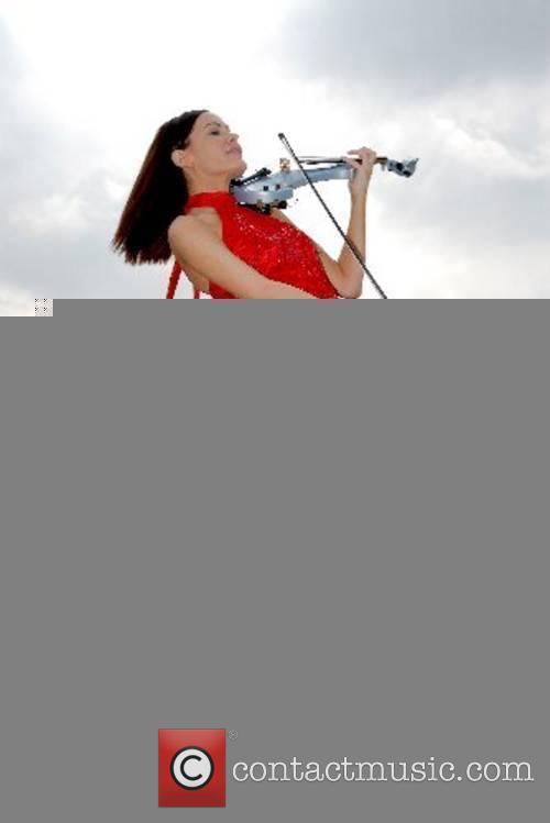 Electric rock violinist Linzi Stoppard performs live on...
