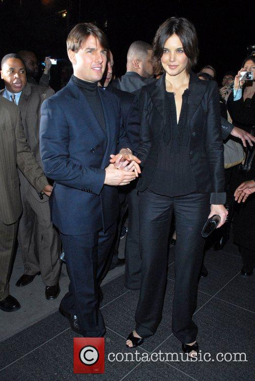 Tom Cruise and Katie Holmes  at the...