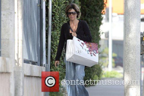 Leaving Diane von Furstenberg boutique in West Hollywood...