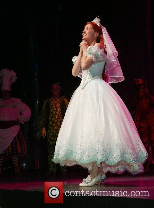 Sierra Boggess and the cast on stage during...