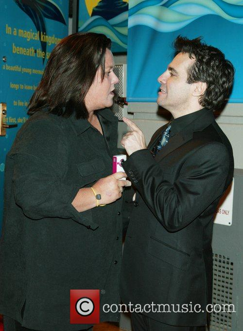 Rosie O'Donnell and Mario Cantone at the opening...