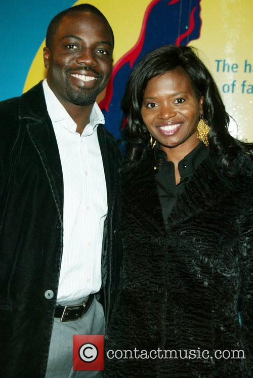 Guest and LaChanze at the opening night performance...