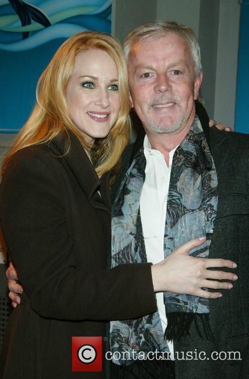 Katie Finneran and John Barrett at the opening...