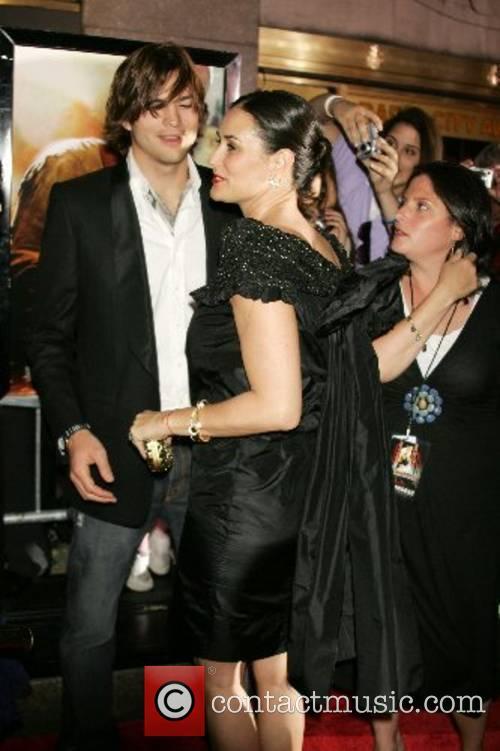 Demi Moore and Ashton Kutcher New York Premiere...